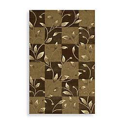 Nourison Contours Brown Vine Area Rugs