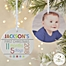Part of the Baby's 1st Christmas Personalized Matte Christmas Ornament Collection