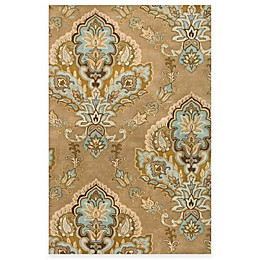 Rizzy Home Volare Jasmine 2-Foot 6-Inch x 7-Foot 6-Inch Latte Wool Rug