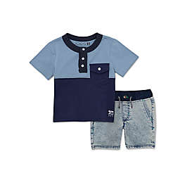 Joe's 2-Piece Henley and Shorts Set in Blue