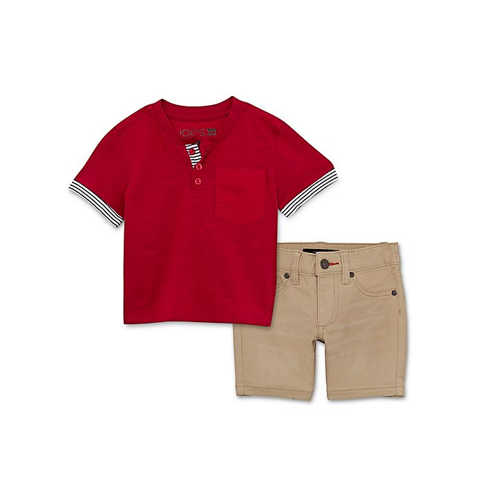 Alternate image 1 for Joe's 2-Piece Henley and Shorts Set in Grey