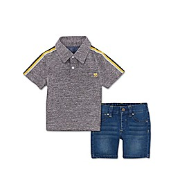 Joe's 2-Piece Polo and Shorts Set in Black