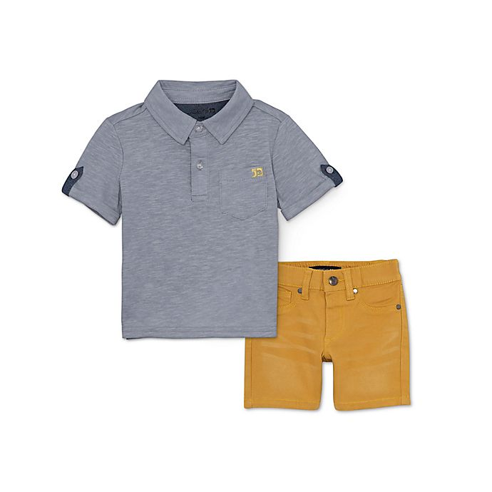 Alternate image 1 for Joe's 2-Piece Polo and Shorts Set in Grey
