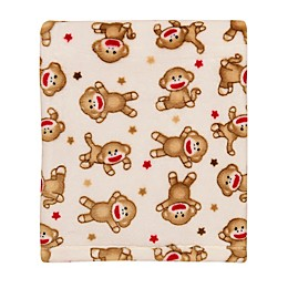 Baby Starters® Sock Monkey Plush Blanket