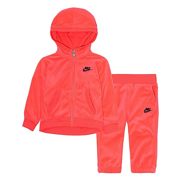 faaa301f7038 Nike® 2-Piece Velour Jacket and Track Pant Set in Pink
