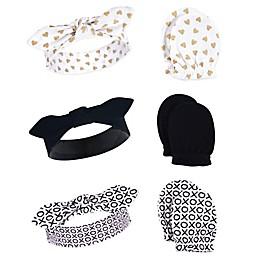 Little Treasure 6-Piece XOXO Headband and Scratch Mitten Set