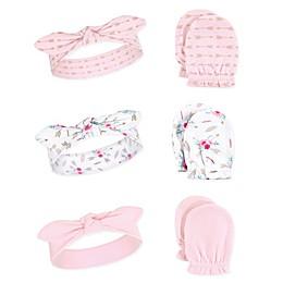 Little Treasure 6-Piece Boho Headband and Scratch Mitten Set