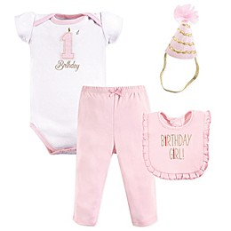 Hudson Baby Size 12M ® 4-Piece Baby Girl First Birthday Outfit