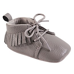 Hudson Baby® Lace Up Moccasins in Grey