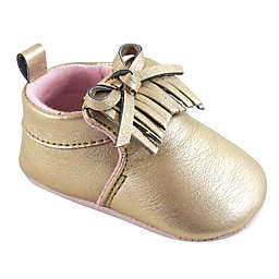 Hudson Baby® Moccasin Booties in Gold
