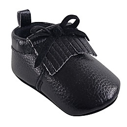 Hudson Baby® Moccasin Booties in Black