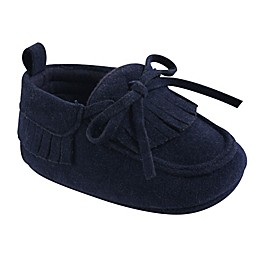 Hudson Baby® Moccasin Booties in Navy