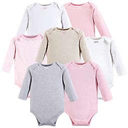 Hudson Baby® 7-Pack Girl Basics Long Sleeve Bodysuits in Pink