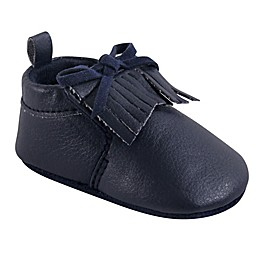 Hudson Baby® Moccasin Booties in Blue