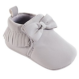 Hudson Baby® Moccasin Booties in Grey