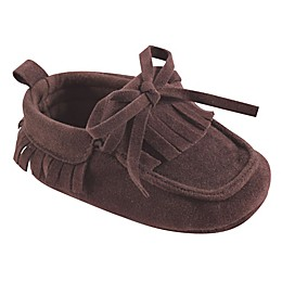 Hudson Baby® Fringe Moccasin Booties in Brown