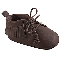 Hudson Baby® Lace-Up Moccasin Booties in Brown