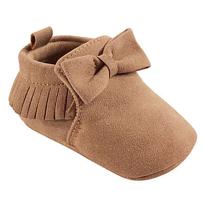 Hudson Baby® Moccasin Booties in Beige