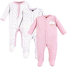 Hudson Baby® 3-Pack Clouds Sleep & Play Footies in Pink