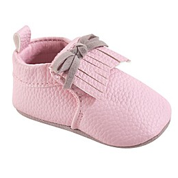Hudson Baby® Moccasin Booties in Pink