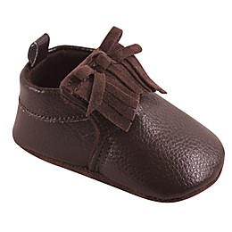 Hudson Baby® Moccasin Booties in Brown