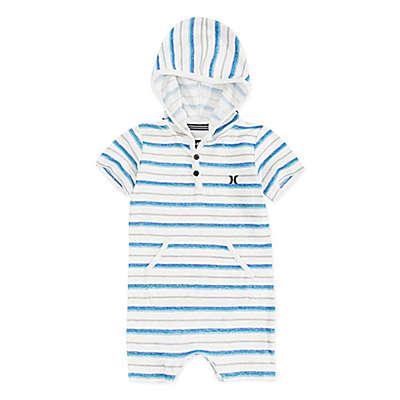 Hurley Striped Hoodie Romper in Blue
