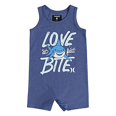 Hurley® Shark Tank Romper in Blue