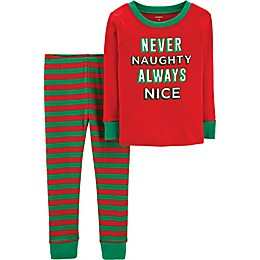 carter's® 2-Piece Adult Never Naughty Christmas Pajamas in Red