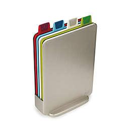 Joseph Joseph® 4-Piece Index™ Color-Coded Mini Cutting Board Set in Silver