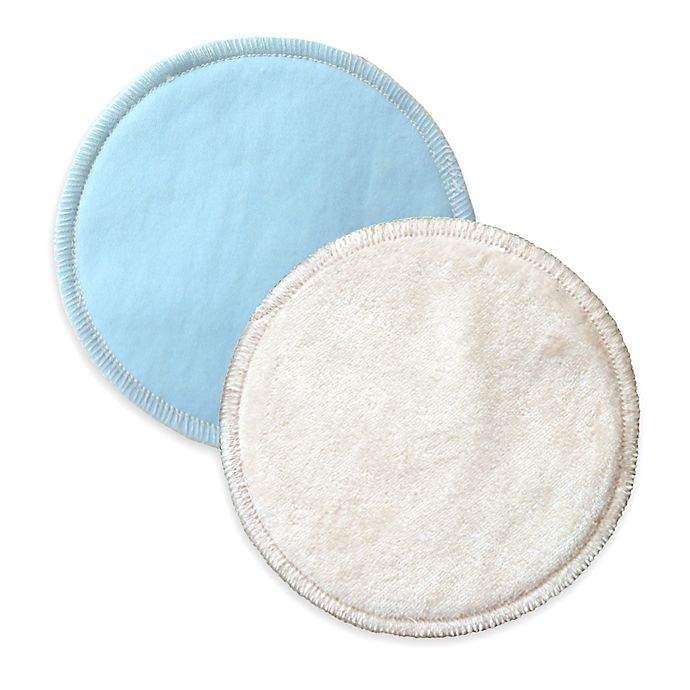 Alternate image 1 for bamboobies® Overnight 2-Pair Pack Washable Nursing Pads in Light Blue
