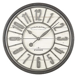 Sterling & Noble™ Farmhouse Collection Zinc Raised Number 29-Inch Wall Clock in Aged Steel