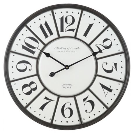 Sterling Noble Farmhouse Collection Vintage Steel 26 Inch Wall Clock Bed Bath Beyond