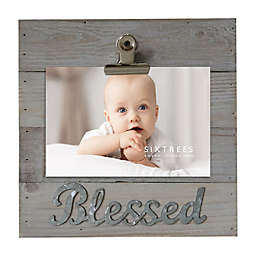 SixTrees LTD 3-Photo Blessed Photo Clip in Grey
