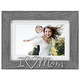 Malden® Love Mom Matted 4-Inch x 6-Inch Photo Frame in Grey