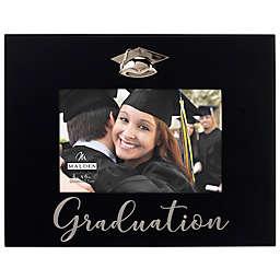Malden® Silkcreened Graduation 4-Inch x 6-Inch Photo Frame in Black