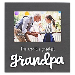 Malden® Greatest Grandpa Wood 4-Inch x 6-Inch Photo Frame in Grey