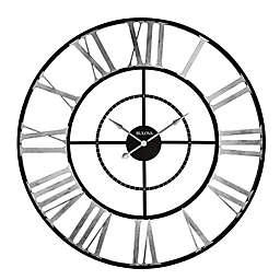 Bulova Zeeland 60-Inch Wall Clock in Black/Silver