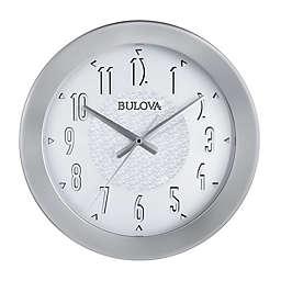 Bulova Fantastmic 16.75-Inch Indoor/Outdoor Wall Clock in White