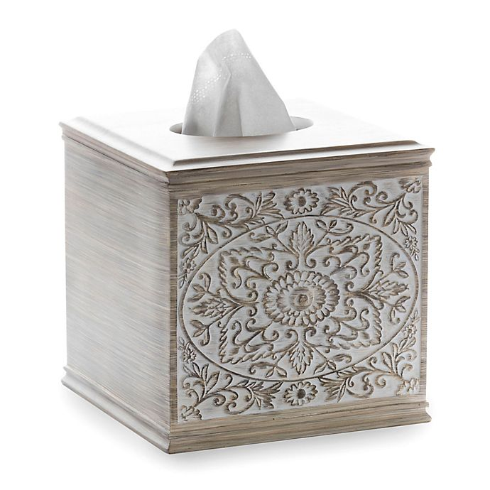 Alternate image 1 for Sumatra Boutique Tissue Box Cover in Light Wood