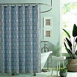 Jessican Simpson Talca Shower Curtain in Blue