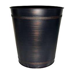 Beaded Metal Wastebasket