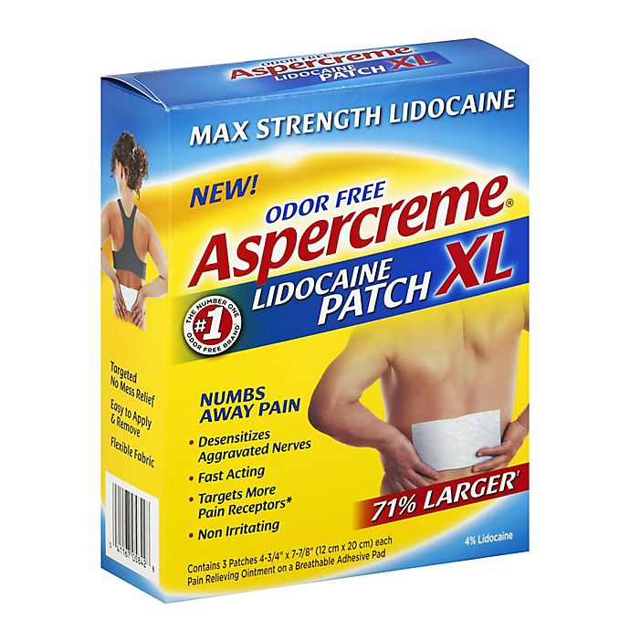 Alternate image 1 for Aspercreme® 3-Count Max Strength Lidocaine XL Patches