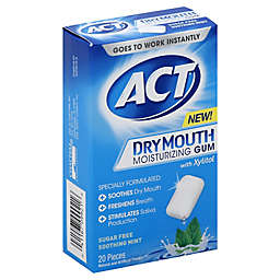 ACT 20-Count Dry Mouth Moisturizing Gum in Soothing Mint
