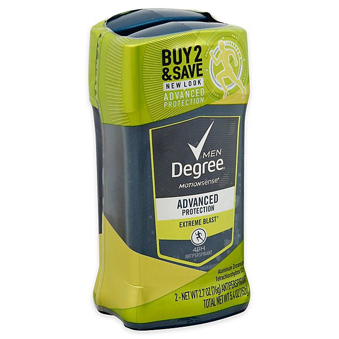 Alternate image 1 for Degree® Men 2-Pack 5.4 oz. Invisible Solid Antiperspirant in Extreme Blast