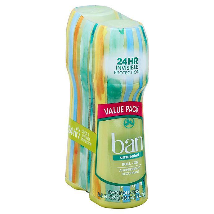 Alternate image 1 for Ban® 3.5 oz. 2-Pack Roll-On Antiperspirant Deodorant in Unscented