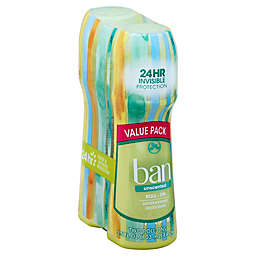Ban® 3.5 oz. 2-Pack Roll-On Antiperspirant Deodorant in Unscented