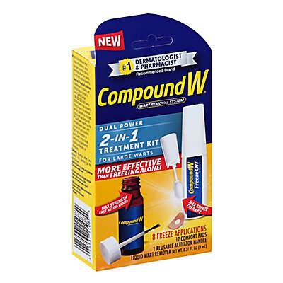 Compound W® 2-in-1 Wart Removal Treatment Kit