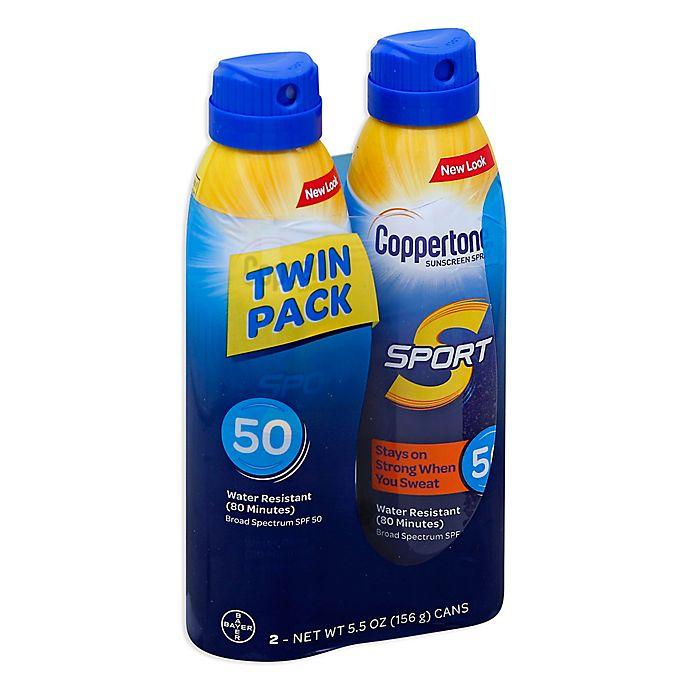 Alternate image 1 for Coppertone® SPORT® 2-Count 5.5 oz. Sunscreen Spray SPF 50