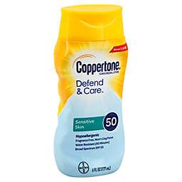 Coppertone® 6 oz. Defend & Care Sensitive Skin SPF 50 Sunscreen Lotion