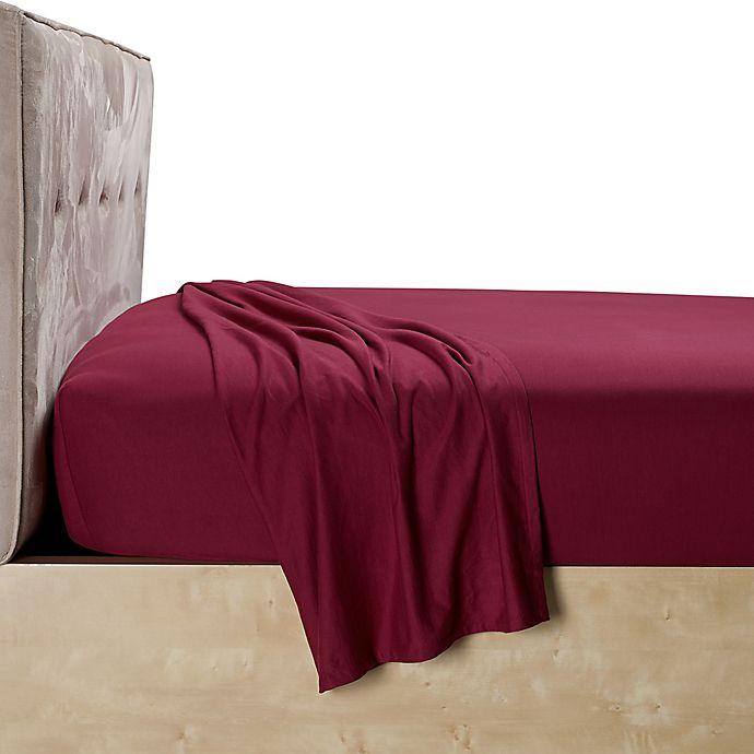 Alternate image 1 for Calvin Klein Harrison Full Fitted Sheet in Burgundy